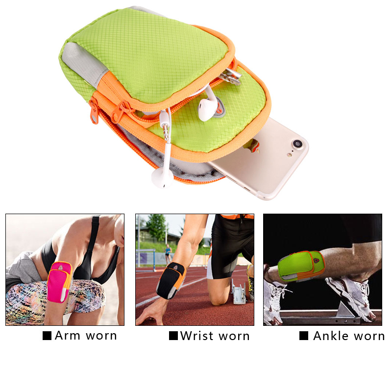 Nylon Running Sport Bag Fitness Gym Jogging Riding Cycling Accessories 5.5inch Cellphone Bag Outdoor Sports Arms Package Newest 9