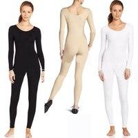 Women S Lycra Spandex Plus Size Full Bodysuit Dance Ballet Gymnastics Leotard Catsuit Adult Black Long