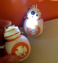 New Star Wars The Force Awakens BB8 BB-8 R2D2 Droid Robot LED keychain Action Figure stormtrooper Clone Strap New year toys