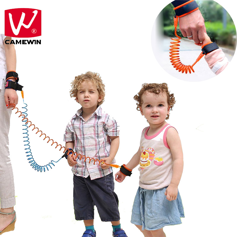 CAMEWIN Baby Kids Safety Harness Child Leash Anti Lost Wrist Link Traction Rope Anti Lost Bracelet Baby Safety Wrist Suppo
