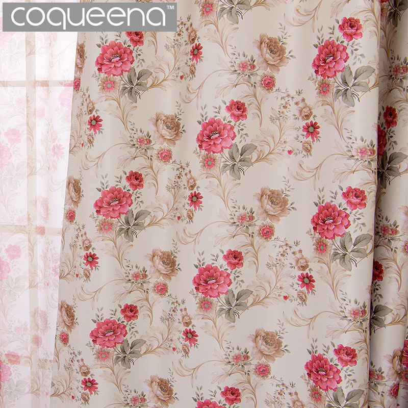New Flower Pattern Blackout Curtains For Living Room Bedroom Ready Made Custom Window Curtains Panel Drapes Window Treatments