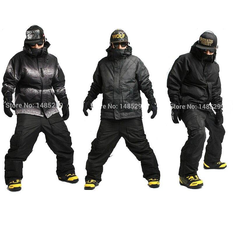 New Premium Edition  Southplay Winter Waterproof Ski & Snowboard Suit (Military Jacket + Black Pants)Sets