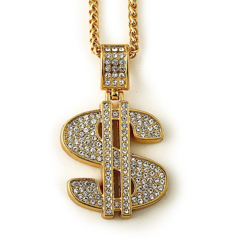 Hip hop 2017 jewelry chains men women charm crystal money for Dollar jewelry and more