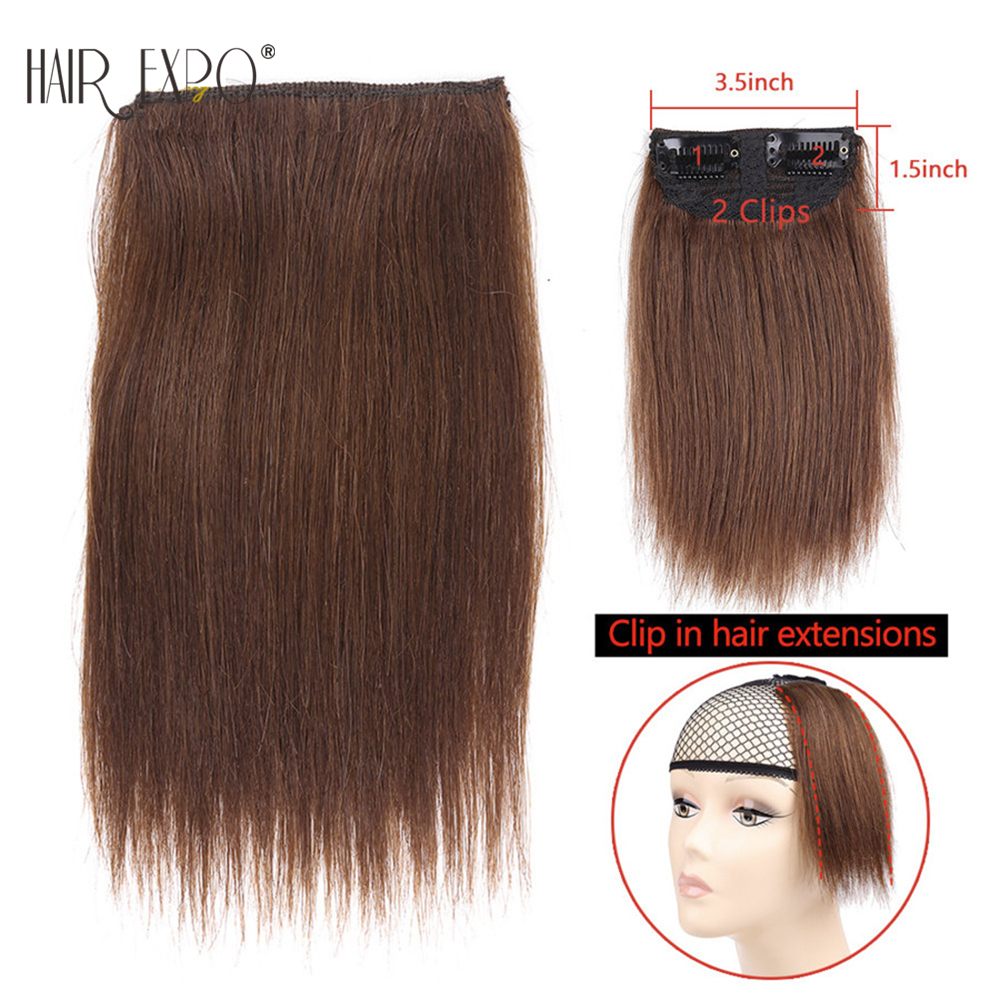 Golden-Beauty-6inch-Brown-Black-Short-straight-Clip-in-Synthetic-Hair-Extensions-One-Piece-False (5)