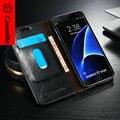 CaseMe Роскошного Кожаного Стенд Case Для Samsung Galaxy S7 Edge, новое Прибытие Бумажник Case для samsung galaxy s7 edge высокое качество