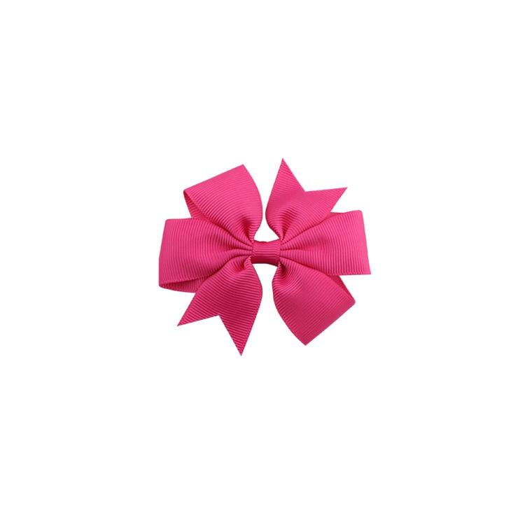 40 цветов сплошная корсажная лента банты заколки шпилька девушка бант для волос, бутик заколки для волос аксессуары для волос - Color: a13 Rose