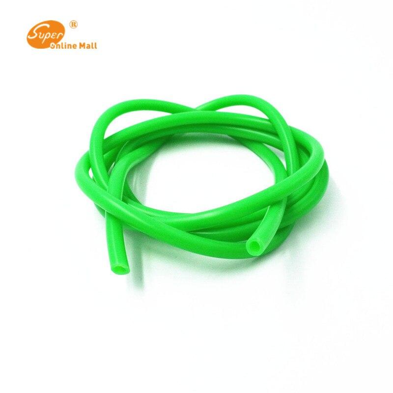 1 м 3 мм ID x 5 мм OD пищевой силиконовый гибкий шланг-высокотемпературный шланг - Цвет: Зеленый