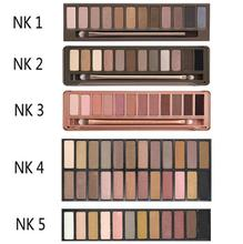 2016 NK 1 2 3 4 5 optional Brand eyeshadow with brush kit Makeup 12 color Palette cosmetic dropshipping face care classic