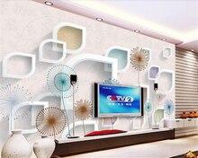 beibehang Dreamy character large indoor outdoor wall paper frame dandelion TV background papel de parede wallpaper papier peint
