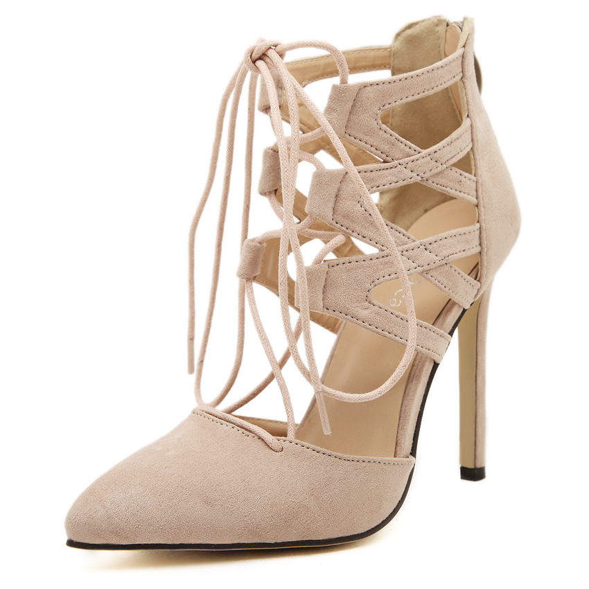 ФОТО  the United States burst of Amazon speed through the hollow point of the hollow high heel shoes women's shoes 42 yards