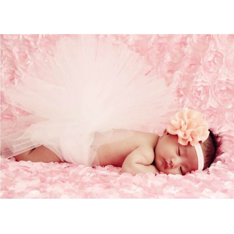 Baby Photography Props Newborn 3D Rose Flower Photography Photo Backdrop Blanket Rug (Pink) allenjoy photo backdrop stars independence day stripes celebration fantasy props for newborn photobooth backdrop