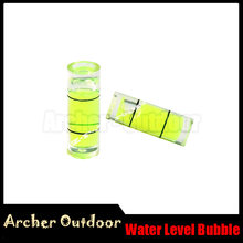 10pcs Green Water Level Bubble Mini For Compound Bow Sight Archery Hunting And Shooting Archery Bow Accessories(China)