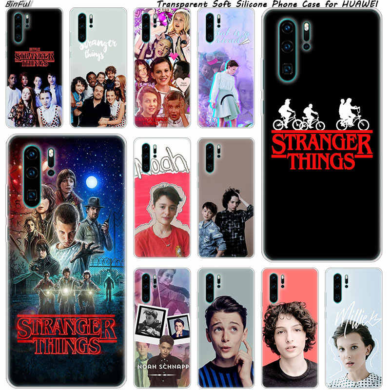 Stranger Things Soft Silicone Phone Case for Huawei P30 P20 Pro P10 P9 P8 Lite 2017 P Smart Z Plus 2019 NOVA 3 3i Fashion Cover