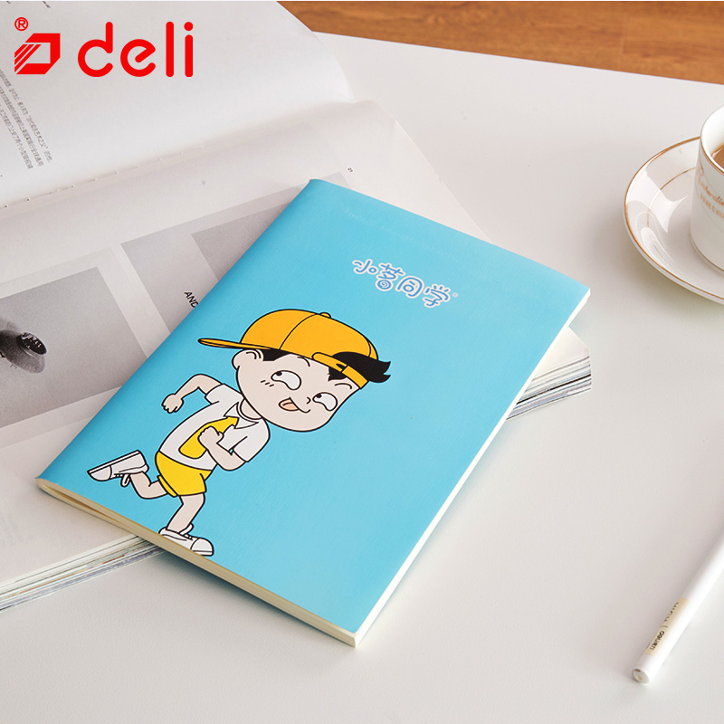 Deli 60sheets a5 cute notebook diary book 4pcs planner student composotition stationery soft fitted copybook school supplies 1pc creative cute cartoon animal planner notebook diary book wooden school supplies student gift