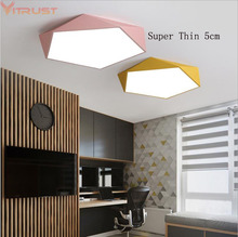 Vitrust Modern Ceiling Lights Lamps Macarons Acrylic LED Lamp Cafe Bedroom Dining Room Kids Room Nordic Home Lighting Fixture macarons ceiling lamps rose colors metal lamp body acrylic lamp shade colorful post modern ceiling light led lighting fixture