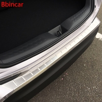 Bbincar Styling Rear Bumper Inner And Outter Protector Step Panel Boot Cover Sill Plate Trunk Trim For Toyota C HR CHR 2017