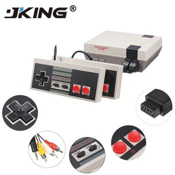 Mini telewizor ręczny wypoczynku rodzinnego konsola do gier wideo Port AV Retro wbudowany w 620 klasycznych gier podwójny Gamepad odtwarzacz do gier tanie i dobre opinie W JKING Mini TV Game Console Handheld 8-bitowa konsola do gier dual gamepad control