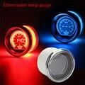 Temperatura da água calibre 52mm 2 polegada evo lcd vermelho/azul medidor de temperatura da água com sensor 40-140 graus tacômetro/car meter/auto bitola