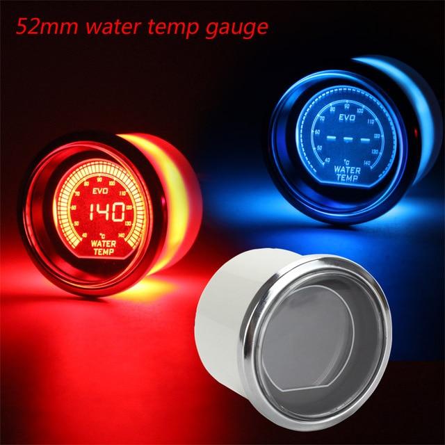 Water temp gauge 52mm 2inch EVO LCD Red/Blue Water Temp Gauge With Sensor 40-140 Degree Tachometer/car meter/auto gauge