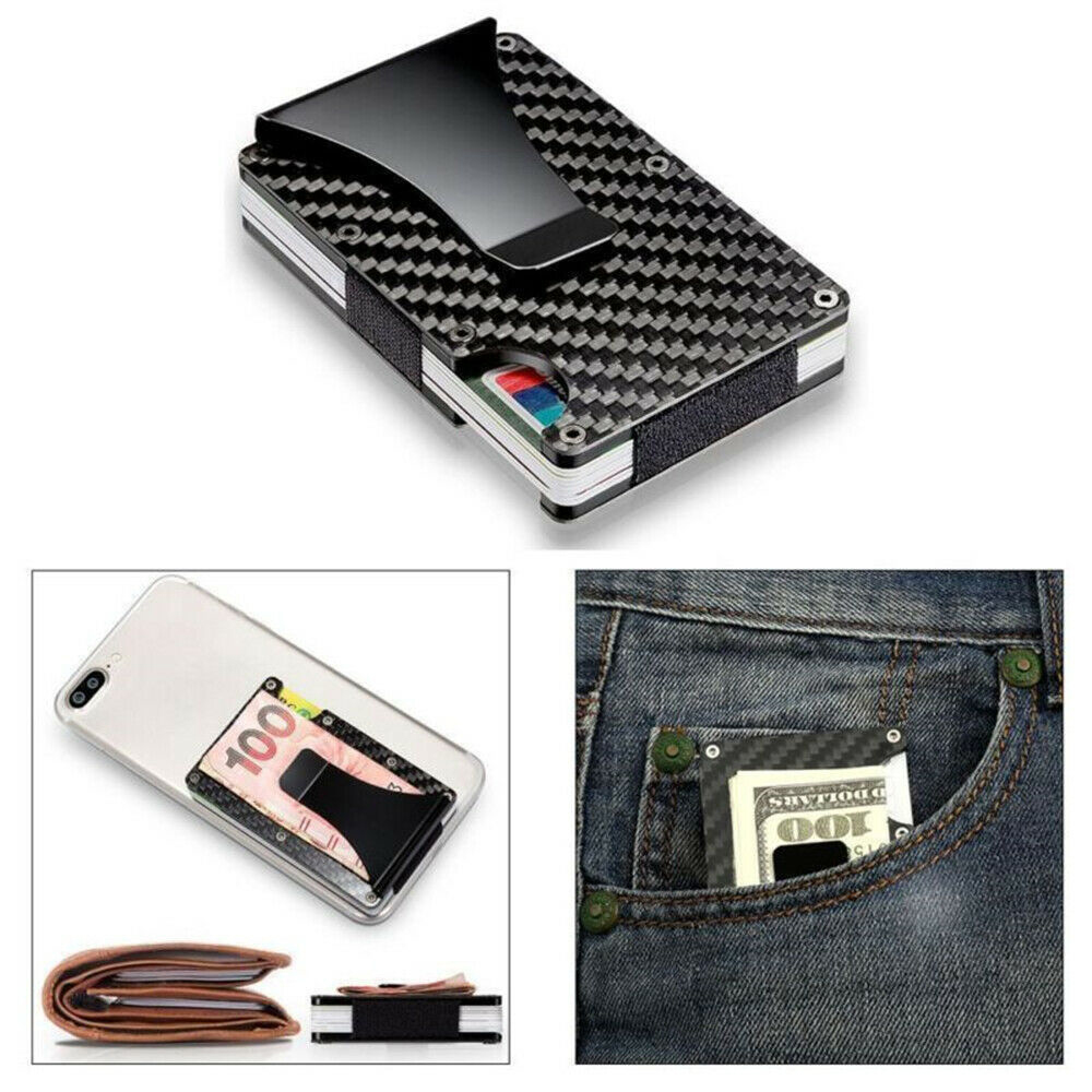 2019 Carbon Fiber Metal Card Package Anti-theft Ultra-thin Small Large Capacity Anti-degaussing Wallet Bank Card ID Card Sets