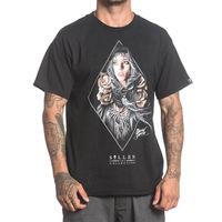 Sullen Men's Esther Black Hip Hop Skull Clothing Apparel Tops Quality T Shirts Men Printing Short Sleeve O Neck