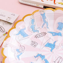 40pc/bag Kawaii Diary Sticker Cartoon Character Transparent Expression Sticke DIY Scrapbook Decor Hand Made Stickers Stationery(China)
