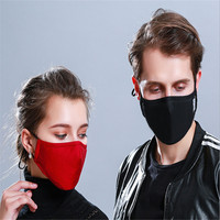 10pcs/Bags Autumn And Winter Anti-haze Dust-proof Activated Carbon Masks Cotton Washable Men And Women Breathable Mask