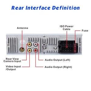 """Image 3 - Podofo rádio automotivo, rádio automotivo com tela sensível ao toque de 4 """", bluetooth, som estéreo, mp5, usb, tf, exibição de temperatura, mãos livres in dash"""