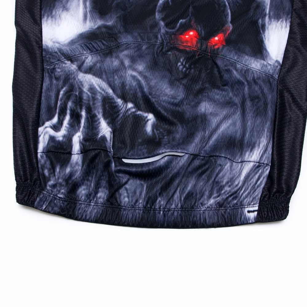 2019 3d camisa de ciclismo camisa da bicicleta dos homens verão montanha estrada mtb camisas maillot ciclismo corrida topo da bicicleta crânio preto vermelho