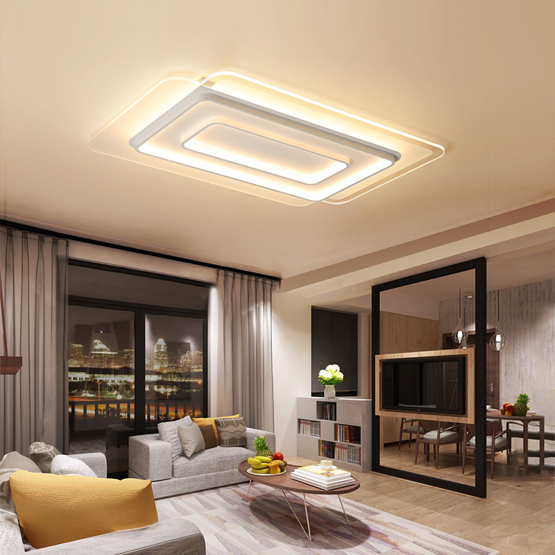 Square/Rectangle Acrylic LED Ceiling Lights For Living room Bed room light Surface Mount Iron led ceiling lamp lamparas de techoSquare/Rectangle Acrylic LED Ceiling Lights For Living room Bed room light Surface Mount Iron led ceiling lamp lamparas de techo