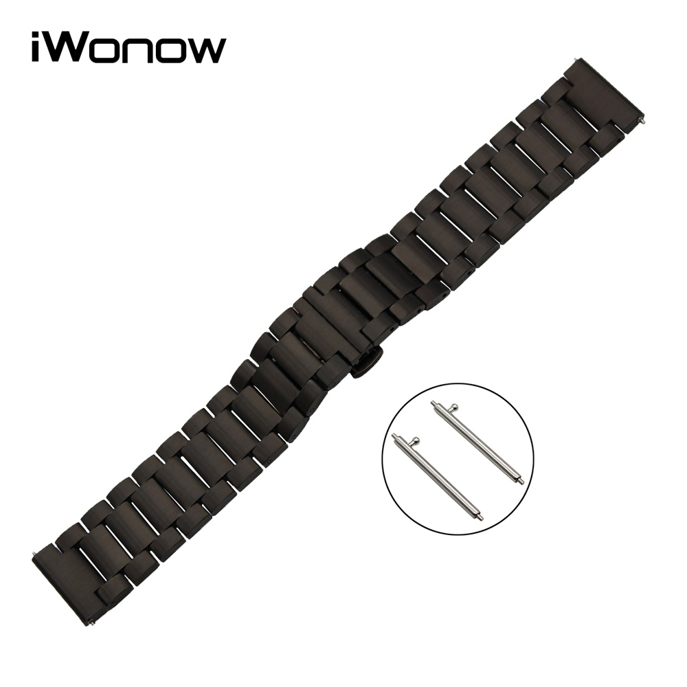 Stainless Steel Quick Release Watch Band 22mm for Samsung Gear S3 Classic / Frontier Butterfly Buckle Strap Wrist Belt Bracelet 22mm quick release ceramic watch band for samsung gear s3 classic frontier steel butterfly buckle strap wrist belt link bracelet