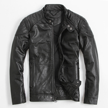 2017 мужские черные кожаные мотоциклетные куртки Плюс Размеры 3XL Slim Fit Мужские Зимние из толстой кожи байкерская куртка Прямая продажа с фабрики Бесплатная доставка