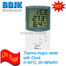On sale Indoor Digital Hygrometer & Thermometer with Clock and C/F Switch Measuring