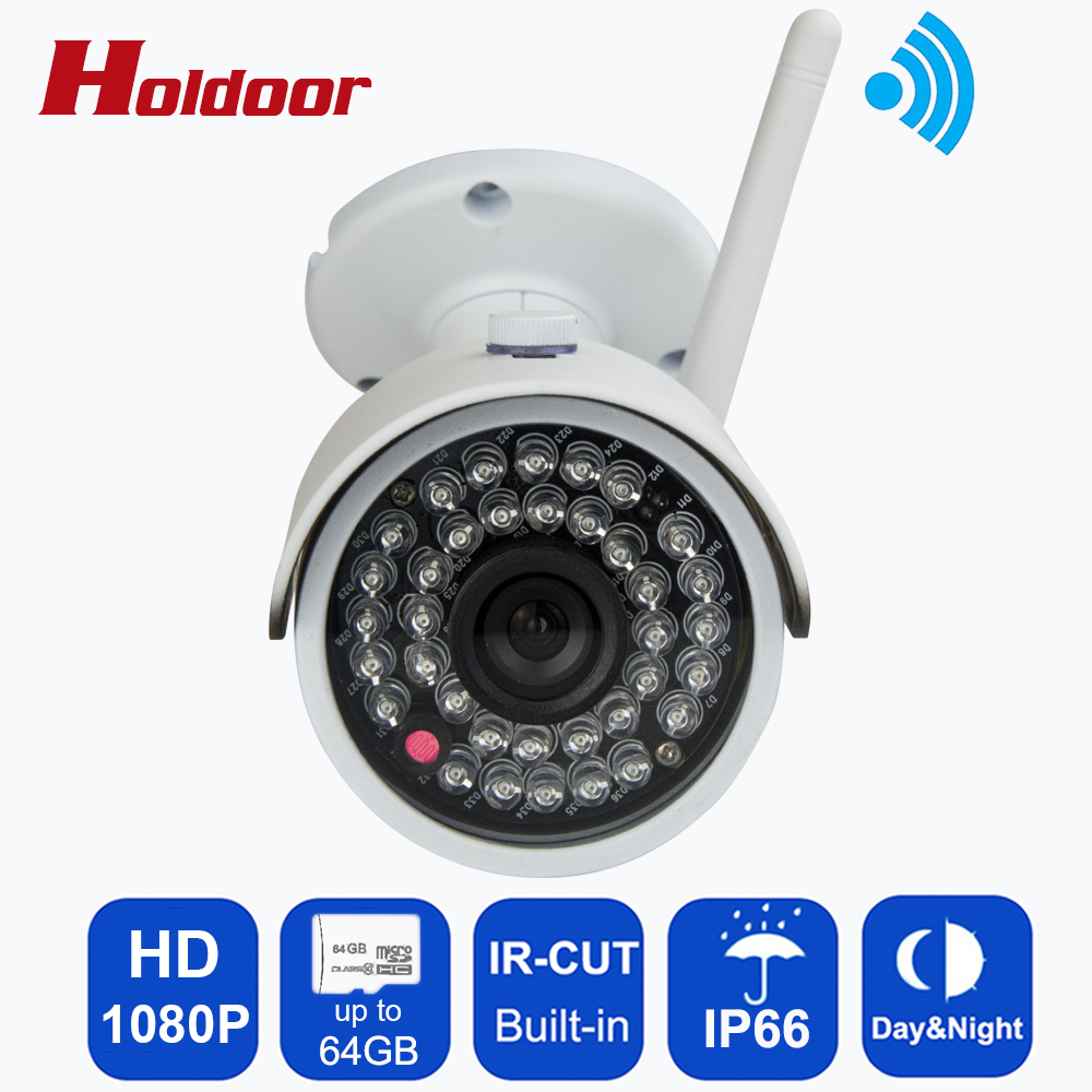 WIFI 1920 x 1080P 2.0MP Waterproof IP Camera 36LED Outdoor Bullet Security Camera Night Vision ONVIF P2P CCTV Cam with IR-Cut wistino cctv camera metal housing outdoor use waterproof bullet casing for ip camera hot sale white color cover case