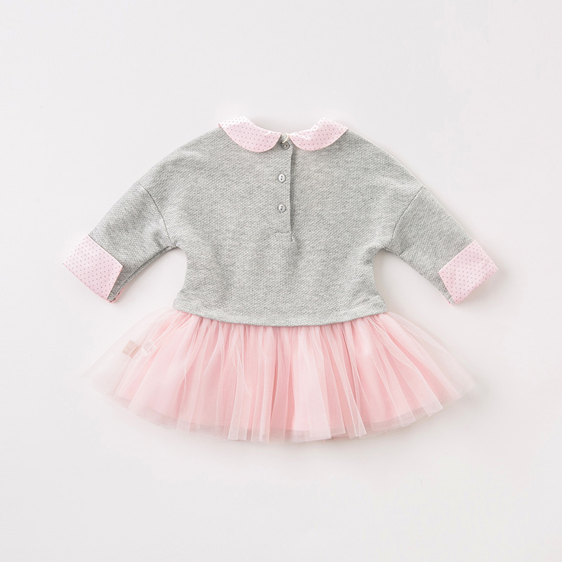 DB8415 dave bella autumn baby long sleeve dress girls mini dress children party birthday clothing infant toddler mesh clothes-in Dresses from Mother & Kids    3