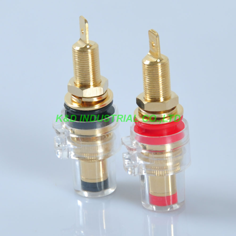 1pair Tube Amp Speaker Terminal Binding Post 6209L 60mm Long With Tang Banana Jack in Electrical Plug from Consumer Electronics