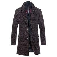 Excellent Quality Classical Medium Long Men Overcoat Wool