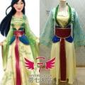 2016 de Dibujos Animados Princesa Mulan Cosplay Vestido Tradicional Chino