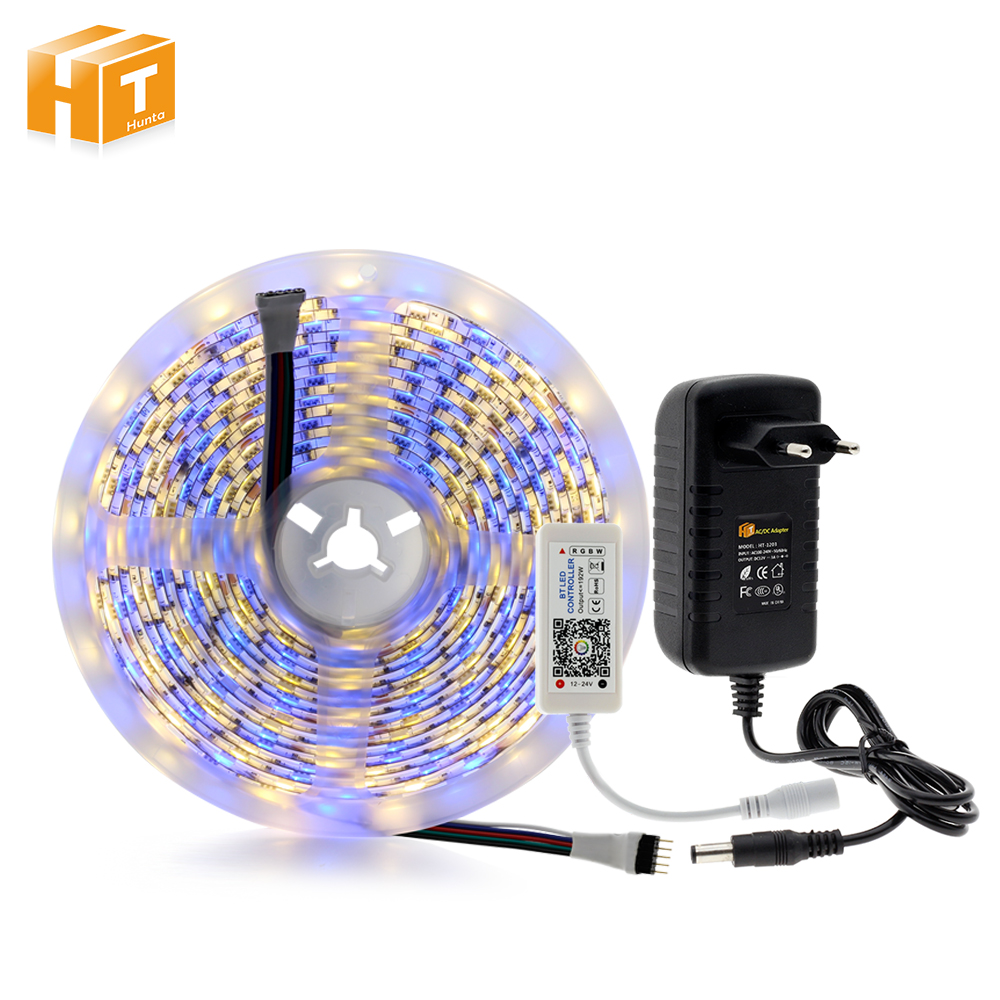 5 mt/los DC12V Led-streifen 5050 60 LEDs/m Flexible LED-Licht RGBW RGBWW 5050 Led-streifen mit Mini LED Bluetooth 4,0 Controller