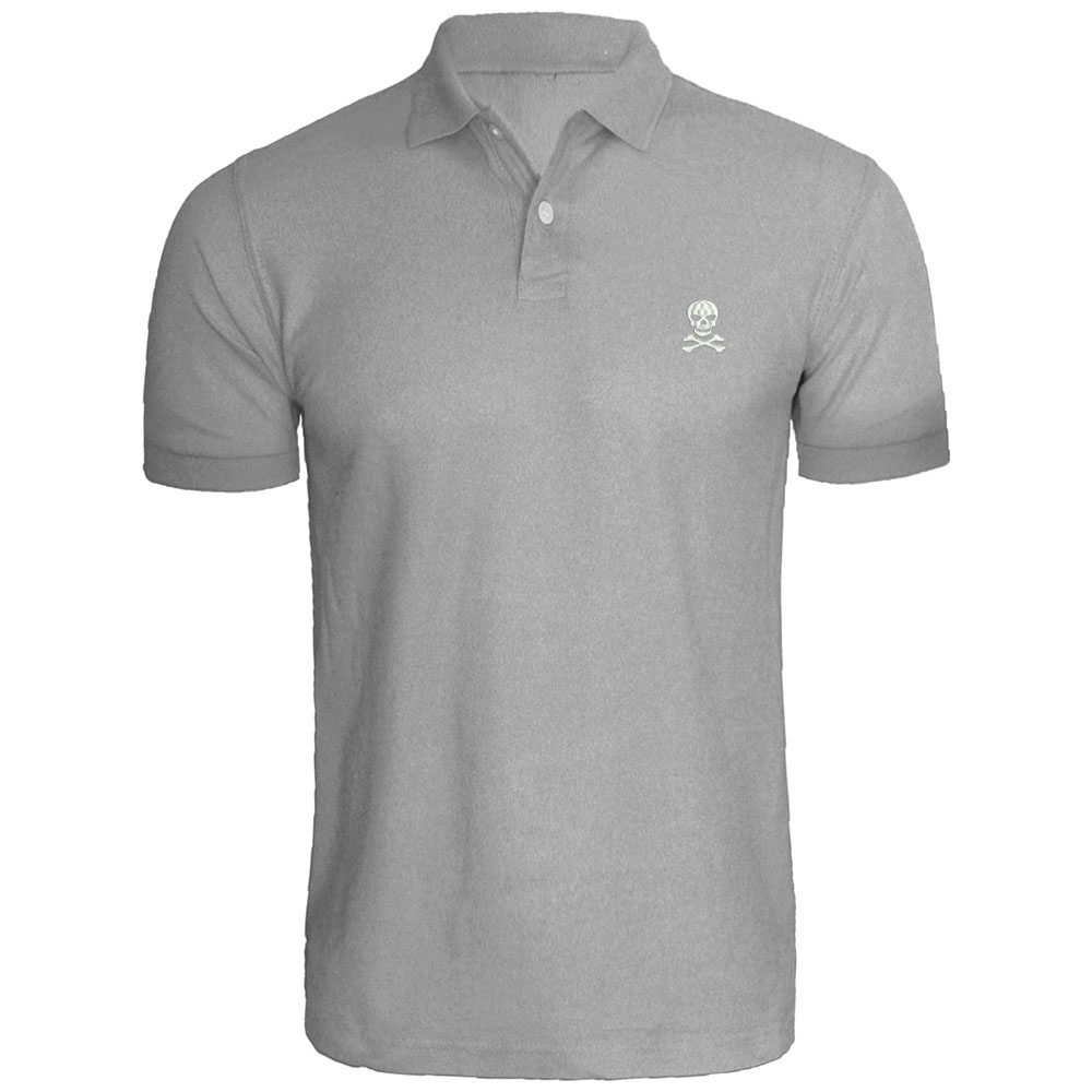 Mens Skull Crossbones Embroidered Polo Shirts In Polo From Men S