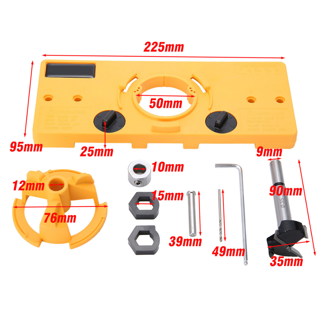 35MM Cup Style Hinge Drill Bit Boring Guide Door Hole Drill Locator Jig Drill Guide For Kreg Tools DIY Woodworking Drill Tool new pocket hole jig drill guide hole positioner locator with clamp woodworking tool kit suitable for joining panel furniture