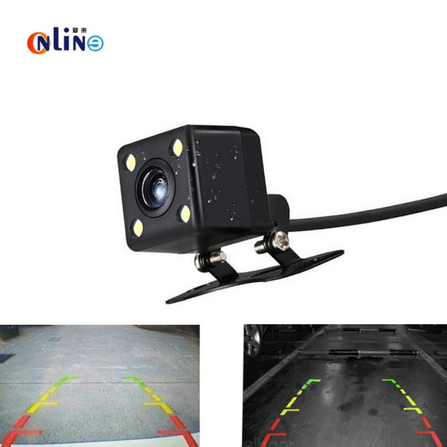 Universal 4 LED Light Night Vision Parking Assistance Waterproof Rear View Camera Wide Angle Car Back Reverse Camera CCD  Camera