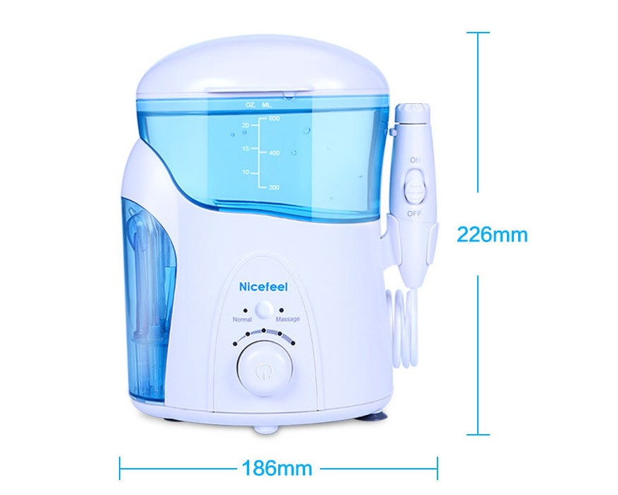 1109 1 pc Nicefeel 1000 ml Dentaire Flosser Oral Portable Soie Dentaire Dentaire Pick Eau D'irrigation