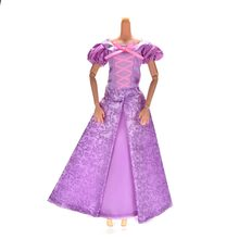 Best Girls' Gift 1Set Princess Doll Dress Similar Fairy Tale Rapunzel Wedding Dress Gown Party Outfit For Doll(China)