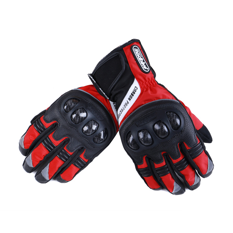 2016 Winter Motorcycle Gloves Waterproof Warm Motocross Racing Motos Motorbike Cycling Glove luvas Guantes M L XL Black Blue Red