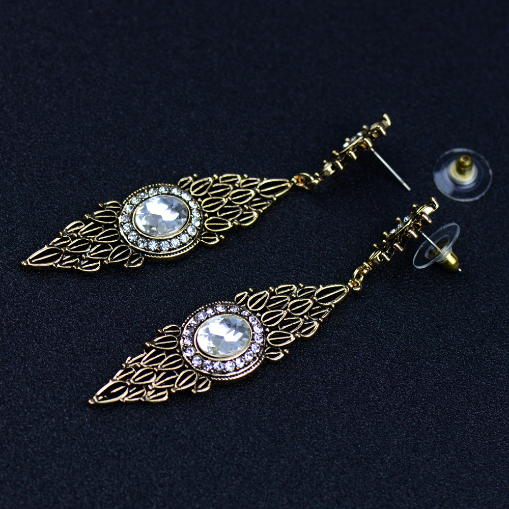 EC248 EC249 Luxury Vintage Gold Color Silver Color Dangle Drop ...