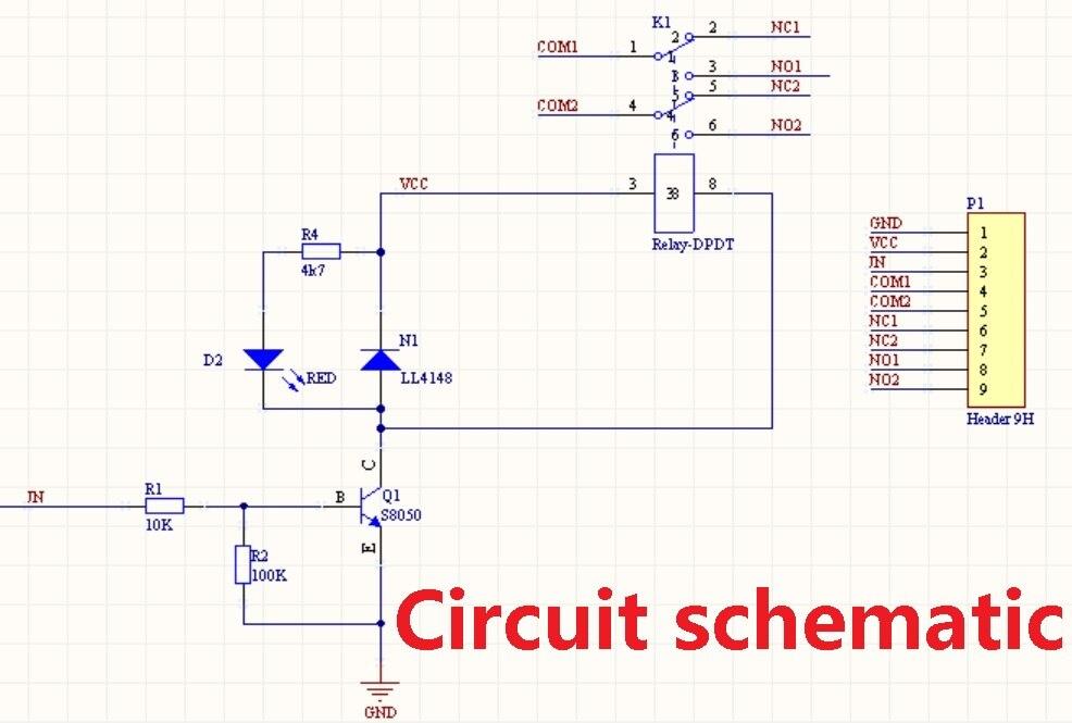 2 STÜCKE Ultra kleine licht DC 5 V 1 kanal DPDT Relaismodul ...