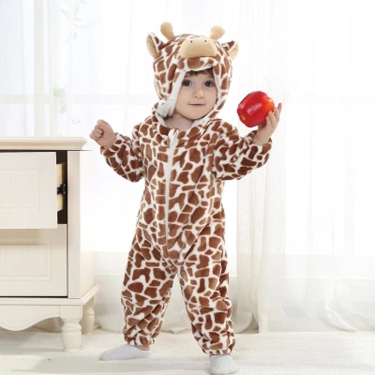 Spring and autumn mono Cow costume clothing for baby new born props