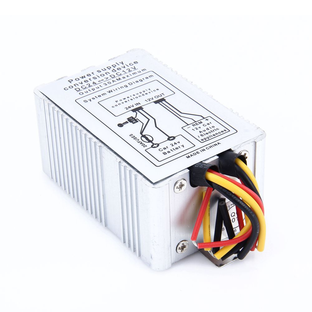 hight resolution of yiyelang dc 24v dc 12v 5a truck adapter power converter transformer in transformers from home