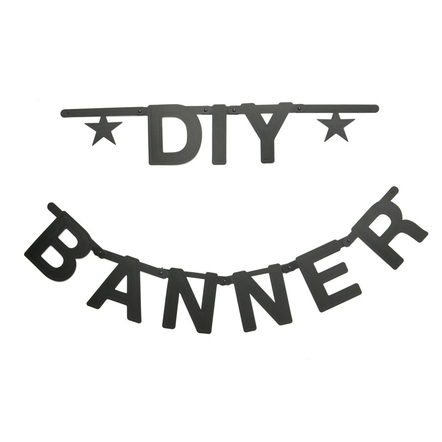 diy customizable letters symbols banner decoration kit themed party